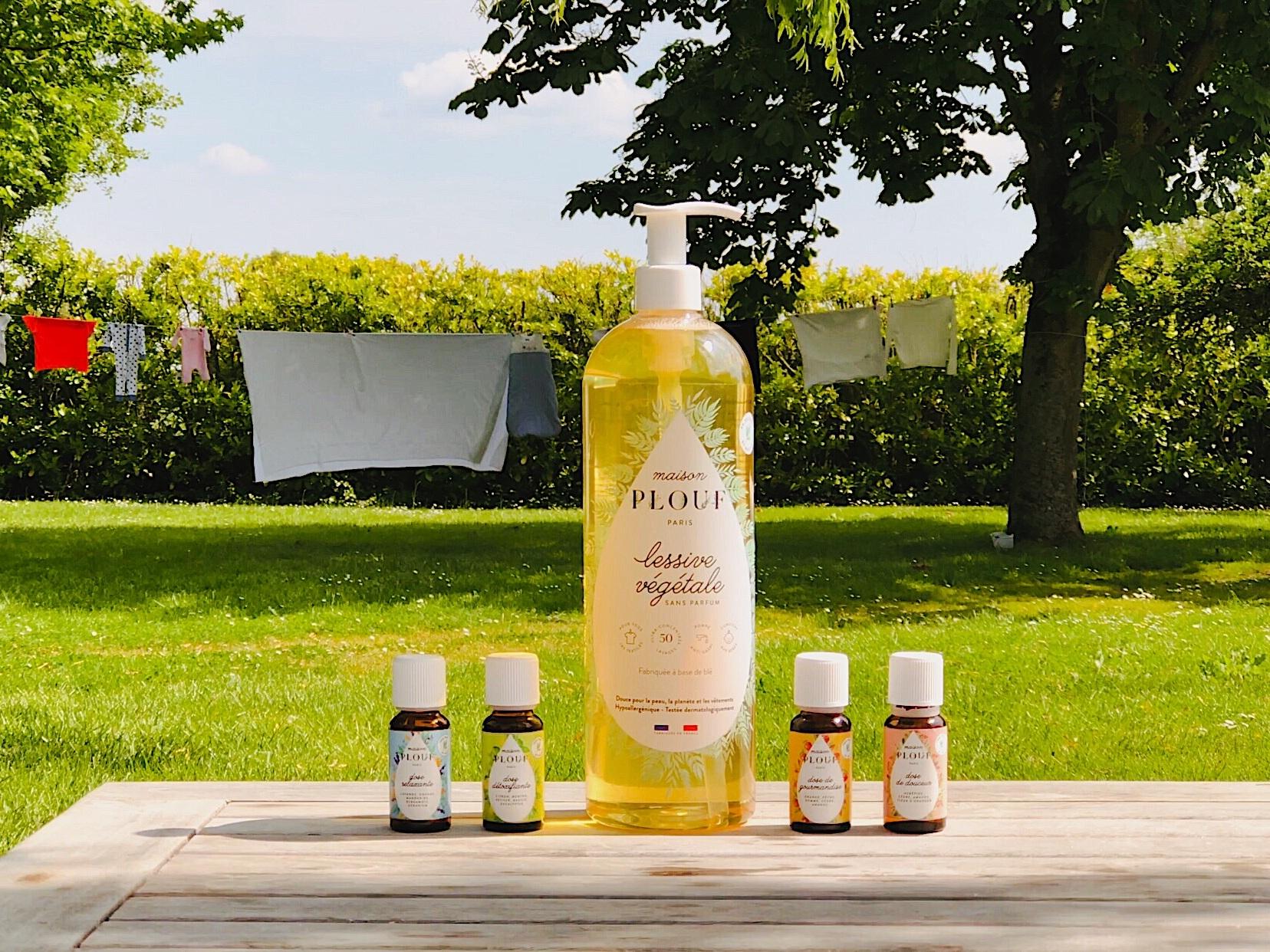 Maison PLOUF - Une lessive transparente et naturelle, à personnaliser avec des parfums tout aussi naturels. →
