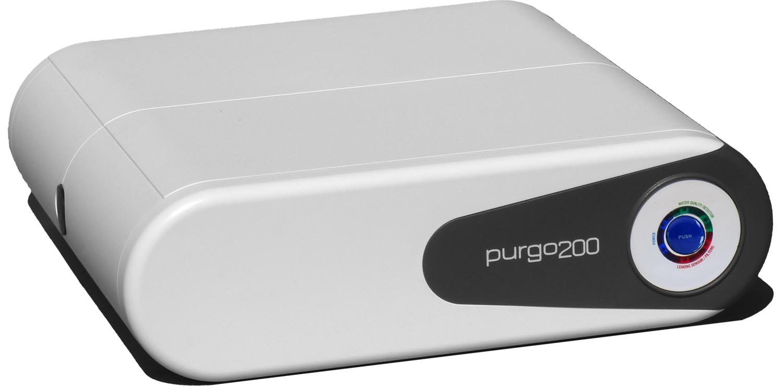Die   purgo200   nimmt besonders wenig Platz ein. Wenn in der Küche der Raum unter den Unterschränken genügend hoch ist, kann sie dort auf dem Boden liegen und nimmt dann überhaupt keinen Platz weg.
