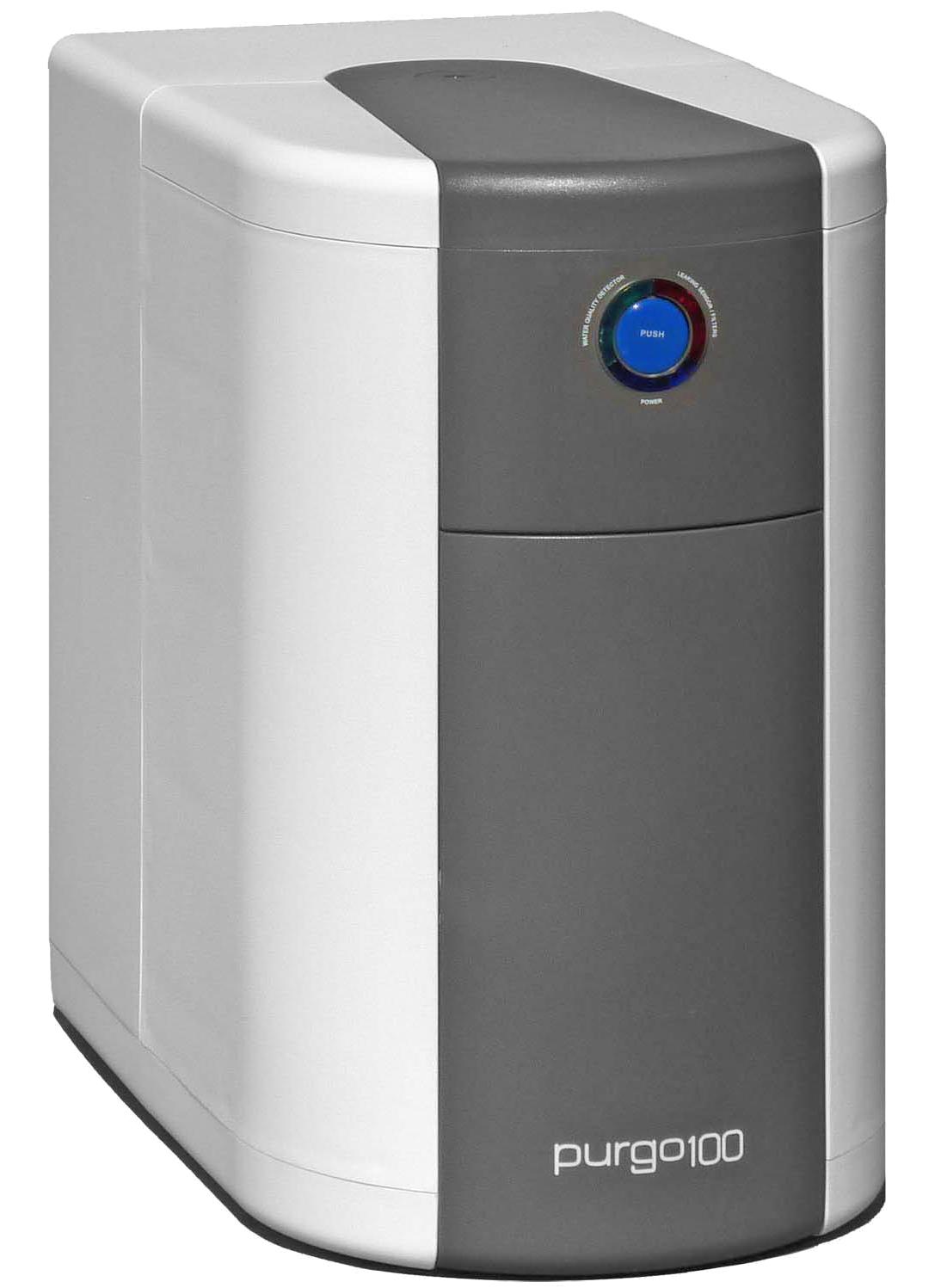 Die besonders preisgünstige   purgo100   hält fünf Liter reines Wasser im Vorratstank bereit - genug für eine mehrköpfige Familie.