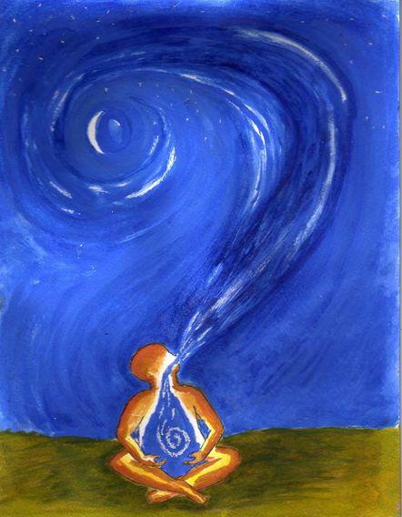 Healing meditation Breath universe