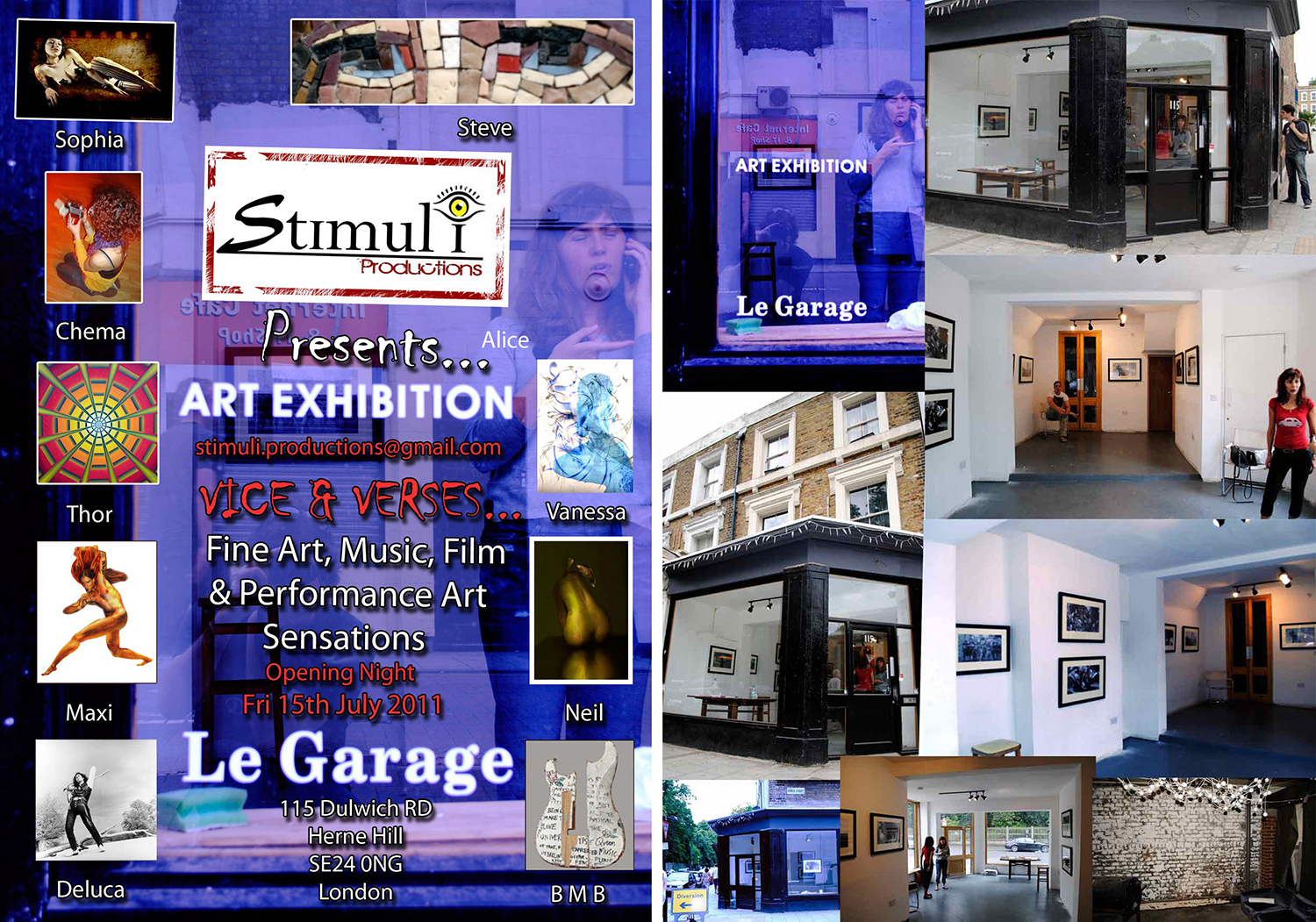 Le Garage exhibition - Brixton London - 2011