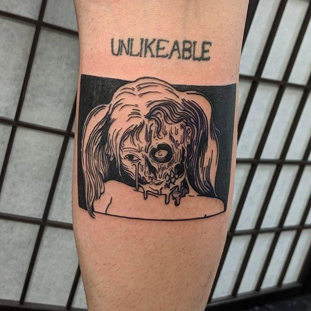 I tattooed @ashnikko today so that was pretty great 🎃🎃🎃