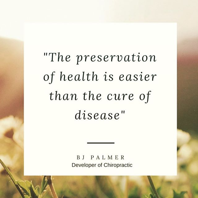 We encourage our patients to be proactive about their health. Take care of your body! #truth #chiropracticadjustment #getsdjusted