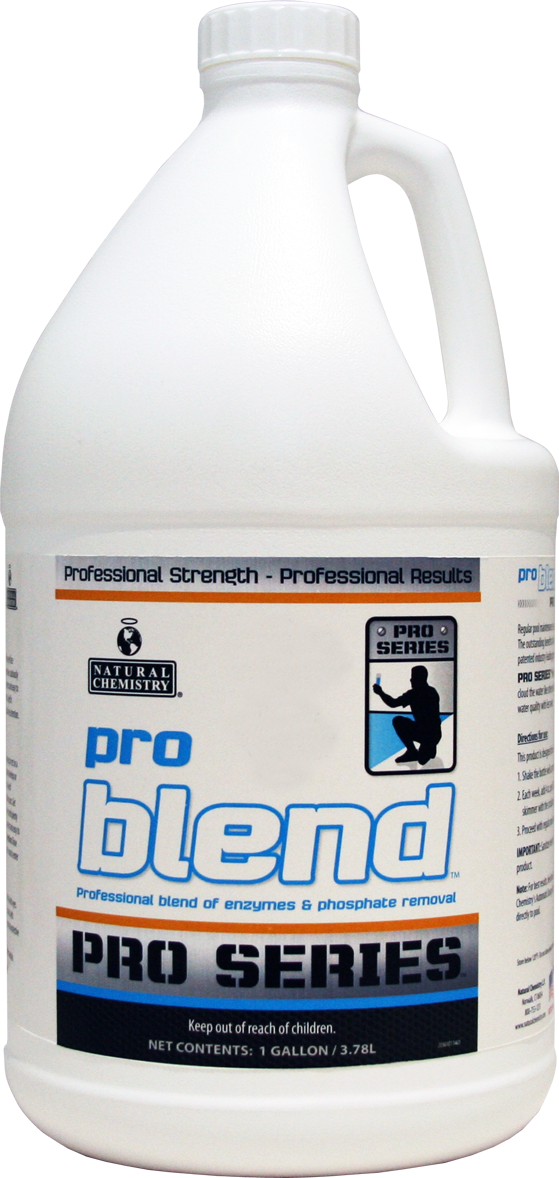 Pro Blend   Regular pool maintenance is easy with PRO SERIES Pro Blend. The outstanding benefits of our SMARTZyme™ technology are combined with our industry leading phosphate removal technology. Experience superior water quality with less work.