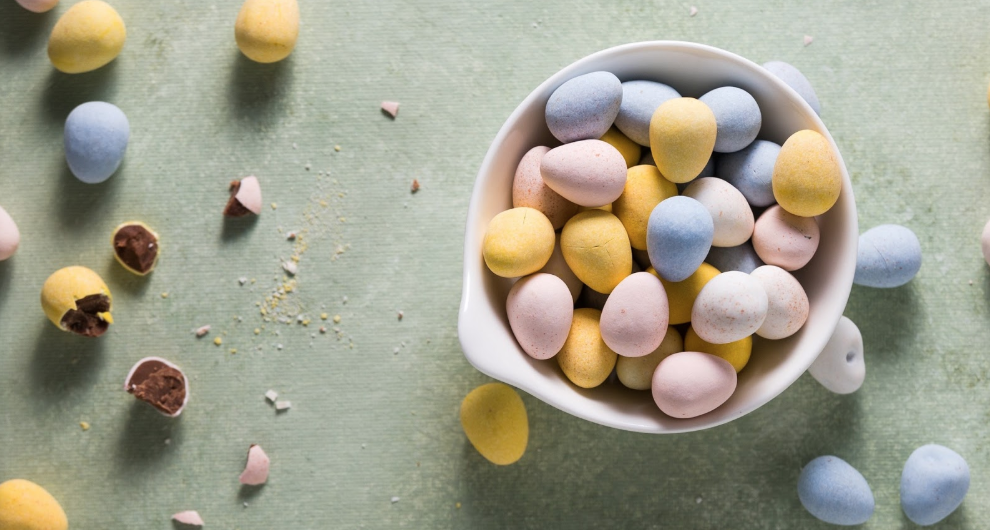 Easter chocolate candies