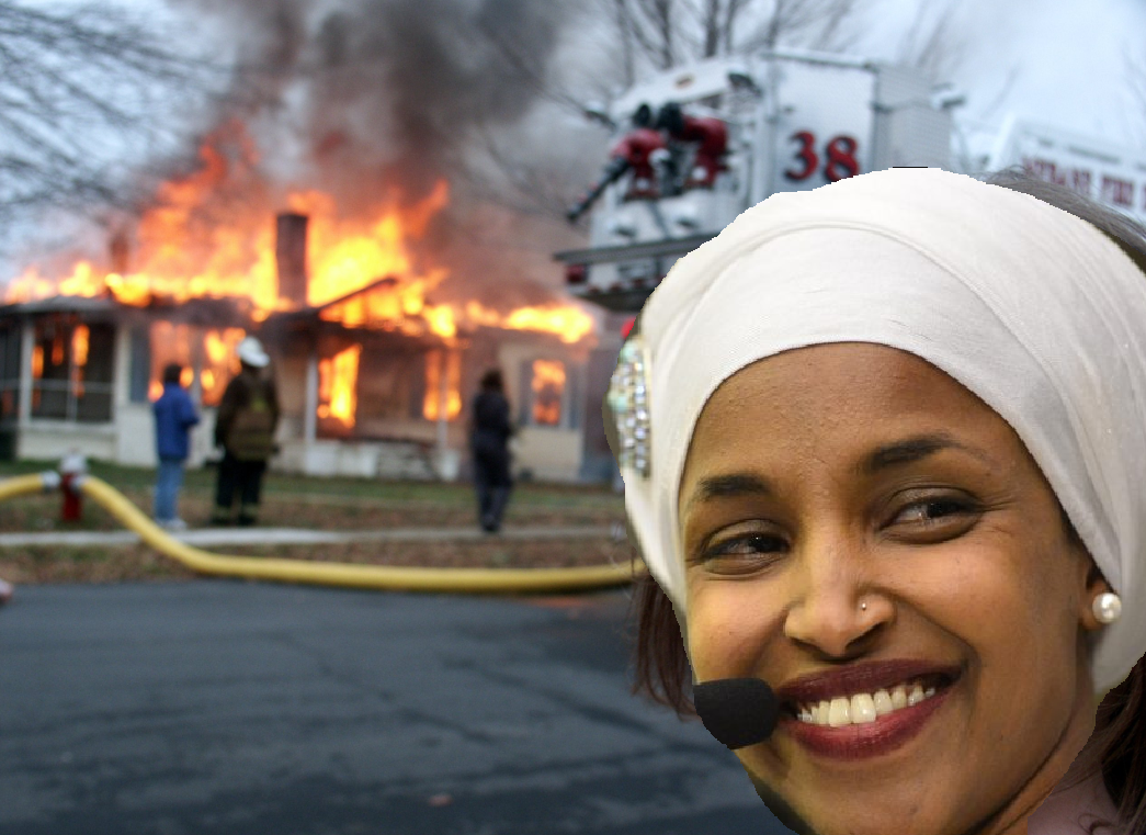 Rep. Ilhan Omar, seen outside DNC HQ moments after convincing them anti-Semitism was a winning strategy.