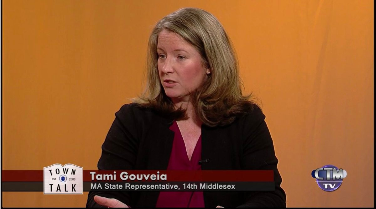 Representative Gouveia on Chelmsford Town Talk in November of 2018.