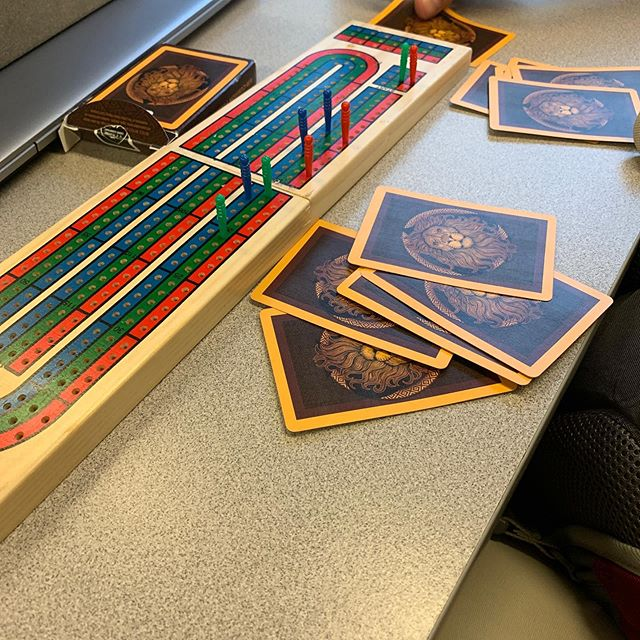 Wonderful way to end a busy day at the State House—cribbage! I am grateful for all I learned from my grandmother because I was able to hold my own with these veteran players. Thank you Glenn and Joe for asking me (a complete stranger) to join your game on our way from Porter Square to S. Acton! #Community #PublicTransitFun