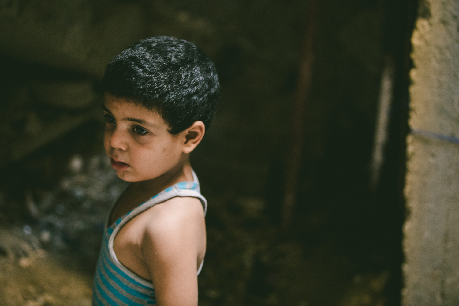 Young Palestinian child.