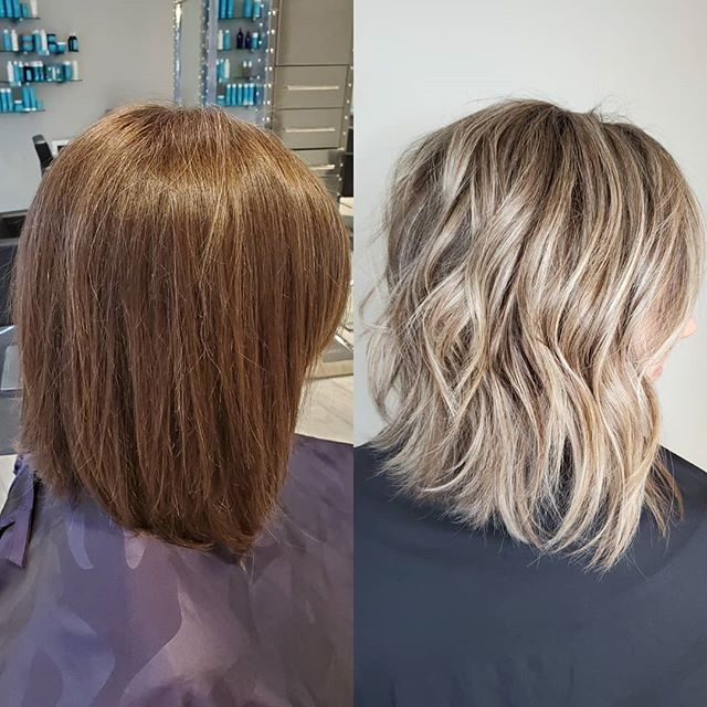 Who doesn't love a good before and after?! This gem is brought to you by @grace_swankpgh and the power of @wella #Blondor and @brazilianbondbuilder. This process took about 4 hours and utilized an entire head of @thebusinessofbalayage techniques that Grace learned earlier this year 🖤 No toner was used but @amika #BustYourBrass was left on for 5 minutes in the sink! . . . #gracethehairartist #swankpgh #swankhairstudio #wella #wellablondor #wellacolor #b3 #brazilianbondbuilder #blondehair #blondeinspo #thebusinessofbalayage #balayageeveryday #pittsburgh #pghhairstylist #pittsburghhairstylist