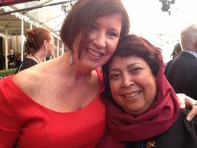 Patti Quigley and Razia Jan