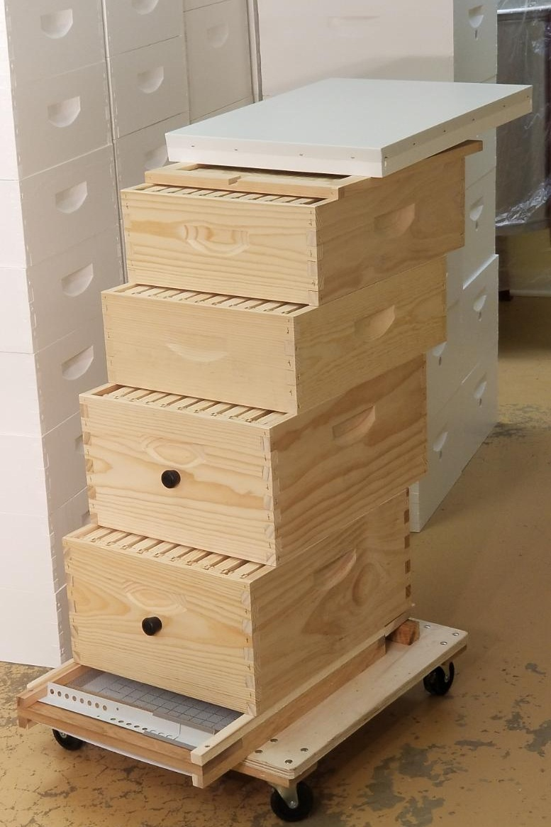 Traditional 4-Story, 10-Frame Langstroth Hive