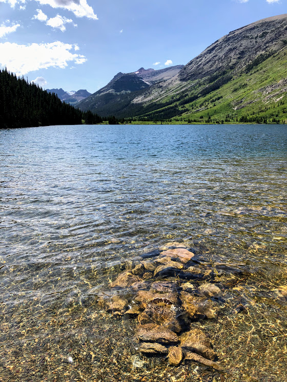 Poia Lake in Glacier National Park