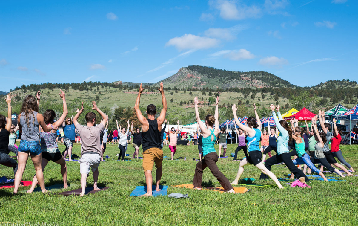 Yoga - BREATHE. STRETCH. BALANCE.Kick off your day at Burning Can Fest at Lyons Outdoor Games with a FREE and fun Outlaw Yoga class.