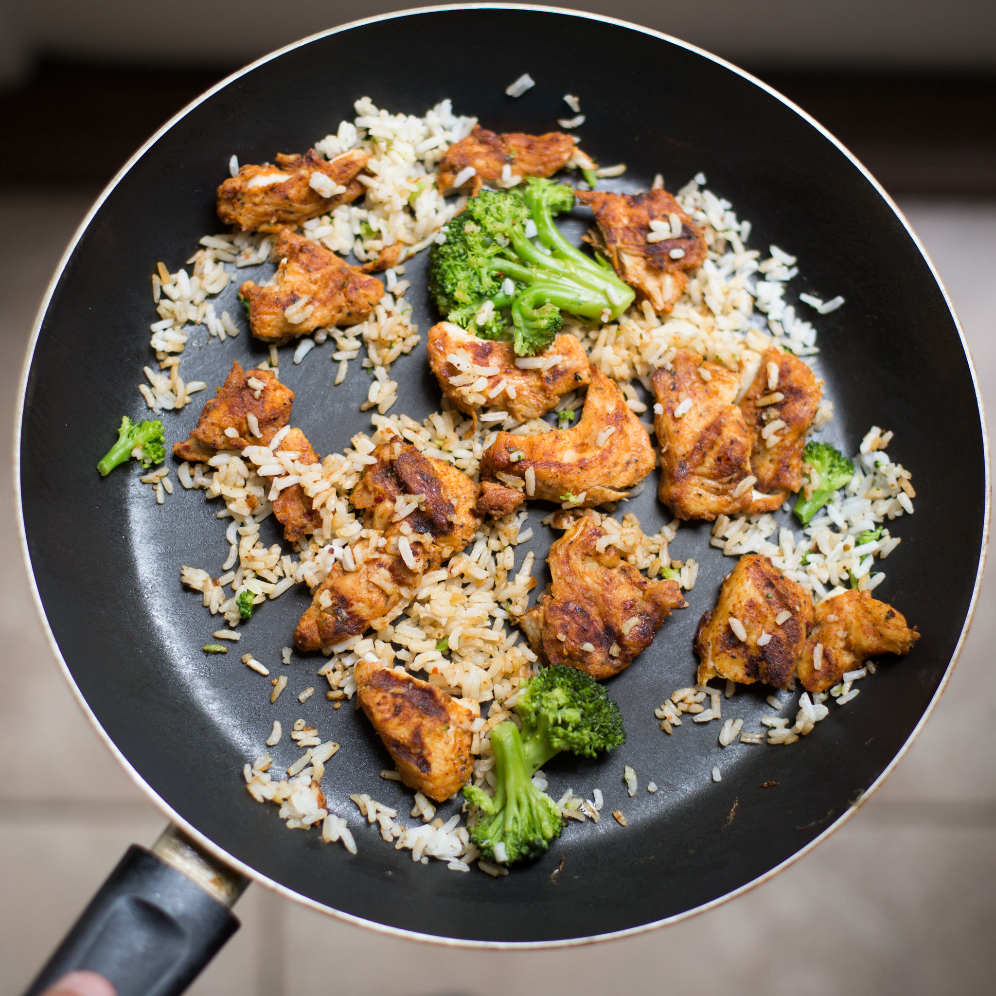 Canva - White Rice, Chicken and Broccoli on Black Non-stick Pan.jpg