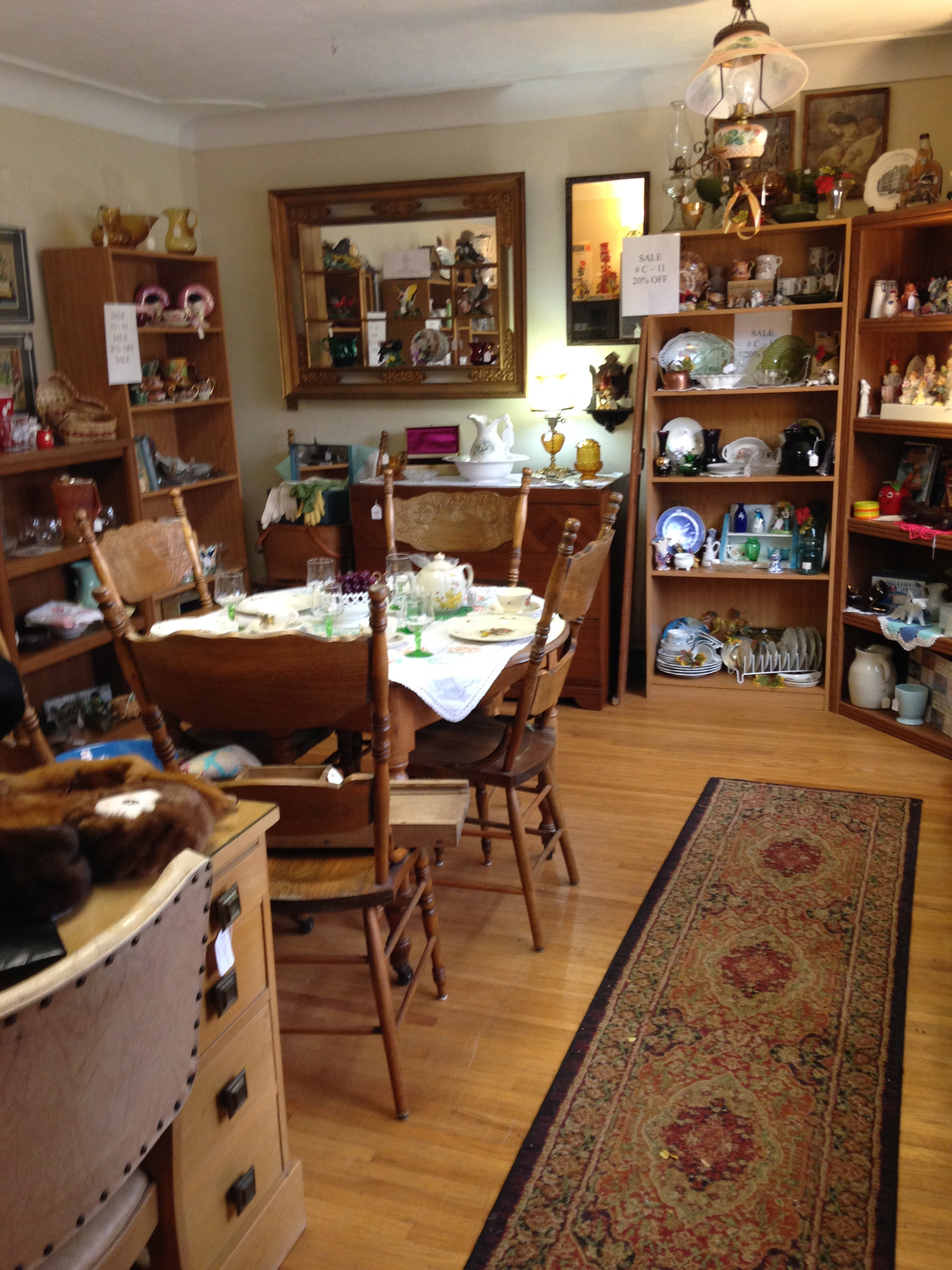 Our antique mall has items from over 20 vendors.