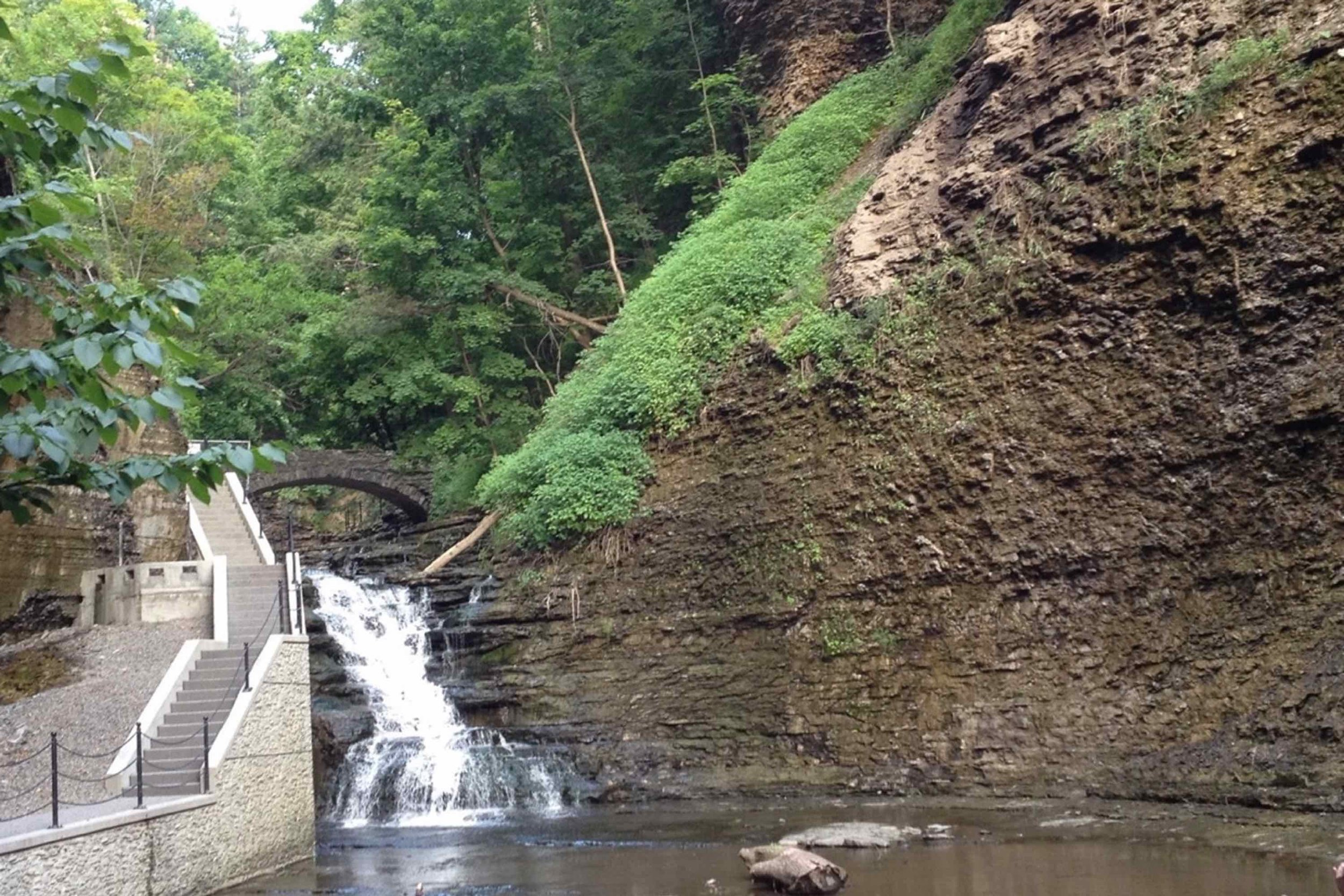 Cascadilla Gorge (around the corner), leads up to Cornell