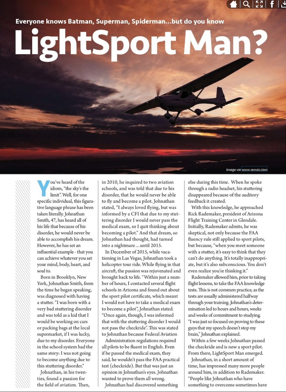 LightSport Man Story Page 1