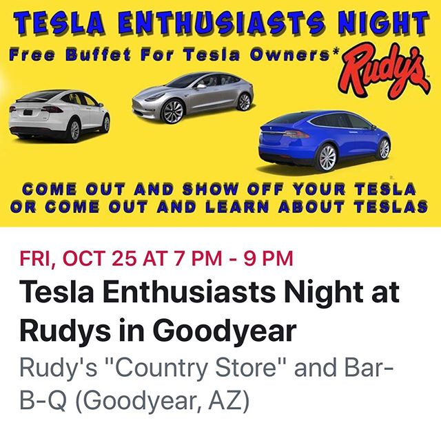 Come out this this great event. https://www.facebook.com/events/244552539781359/?ti=icl Tesla Owners Nation https://www.facebook.com/groups/TeslaOwnersNation/  You can use my referral code to get 1,000 free Supercharger miles on a new Tesla!  https://ts.la/johnathan37584  #tesla#teslas#tsla#teslamotors #teslamodels#teslamodelx #teslamodel3#teslamodely #teslaroadster#teslasupercharger #teslalife#teslaowner#teslacar #teslacars#teslaenergy#powerwall #gigafactory#elonmusk#spacex #electricvehicle#electriccar#EV #evannex#teslagigafactory #mytesla #lightsportman #lifewithtesla