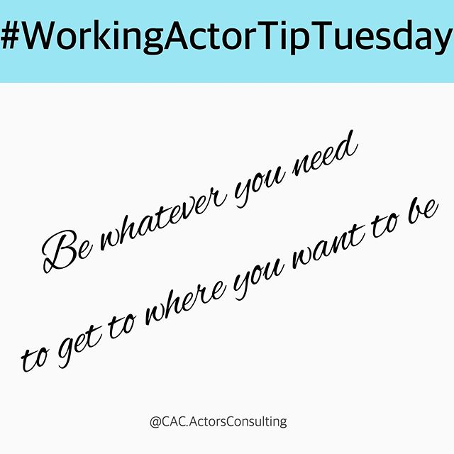 """// #WorkingActorTipTuesday Be whatever you need to get to where you want to be. If you have to sacrifice going out, if you have to withdraw yourself from friends and festivities, if you have to turn your phone off to focus, if you have to spend money on classes or learning, if you have to humble yourself, by all means DO IT. The people who """"make it"""" do these things on the regular. Your family, and real friends will still be there for you! ◽️ Actors, get agency representation by getting """"AGENCY READY!"""" Get a career boost with our acting business coaching! #LinkInBio to view packages + info! www.CreativeActorsConsulting.com  preBook coming soon! ◽️ ◽️ #WorkingActor #actorsofinstagram #AspiringActors #AspiringActress #actorslife #actorlife #actress #setlife #callback #model #modellife #actor #actors #auditionseason #sagaftra #audition #headshots #acting #pilotseason #agency #selftape #movetola #blackactress #laactor #laactress #actingtips #Actorpreneur #actorsonactors"""