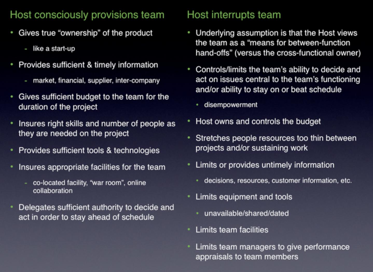 provisioning host versus interrupting host