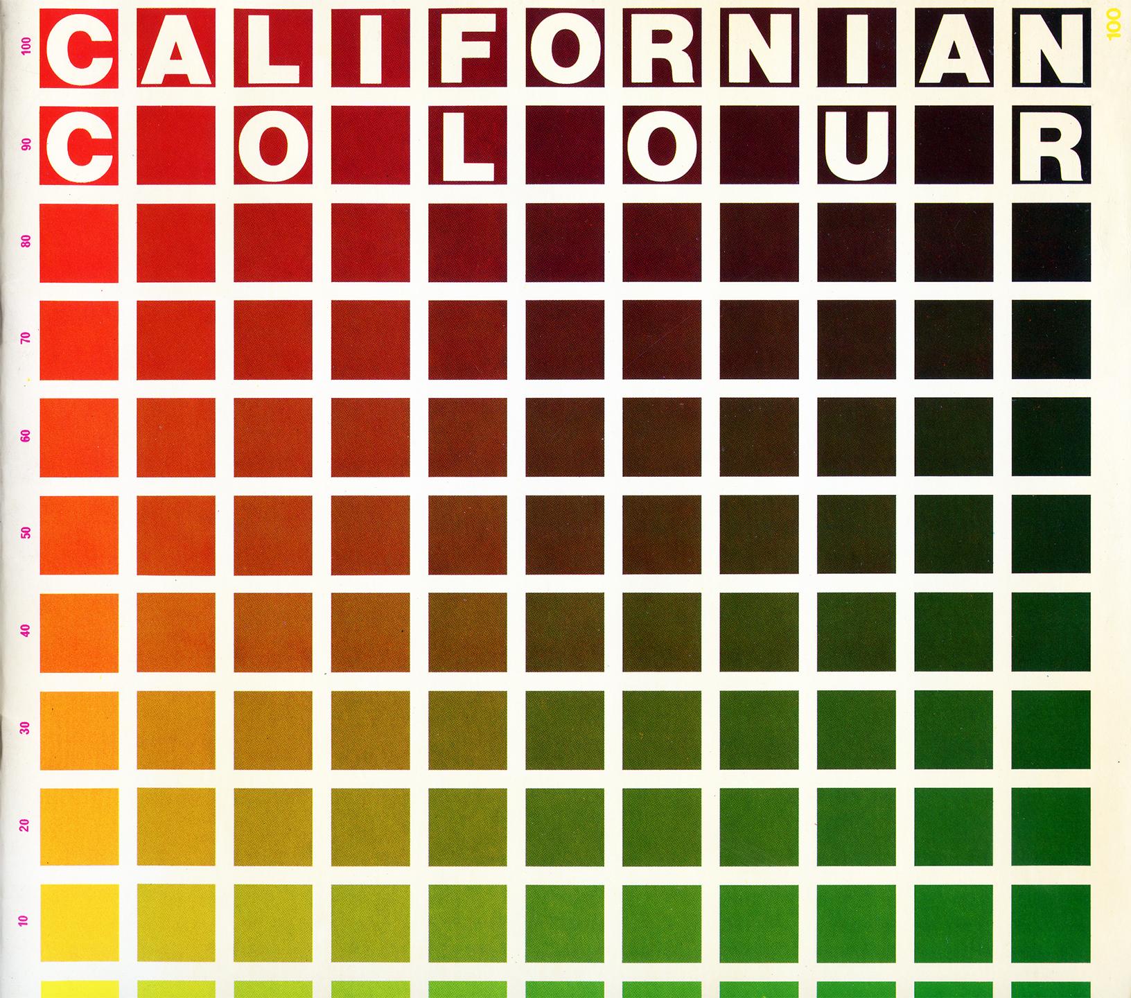 Californian Colour London England 1981