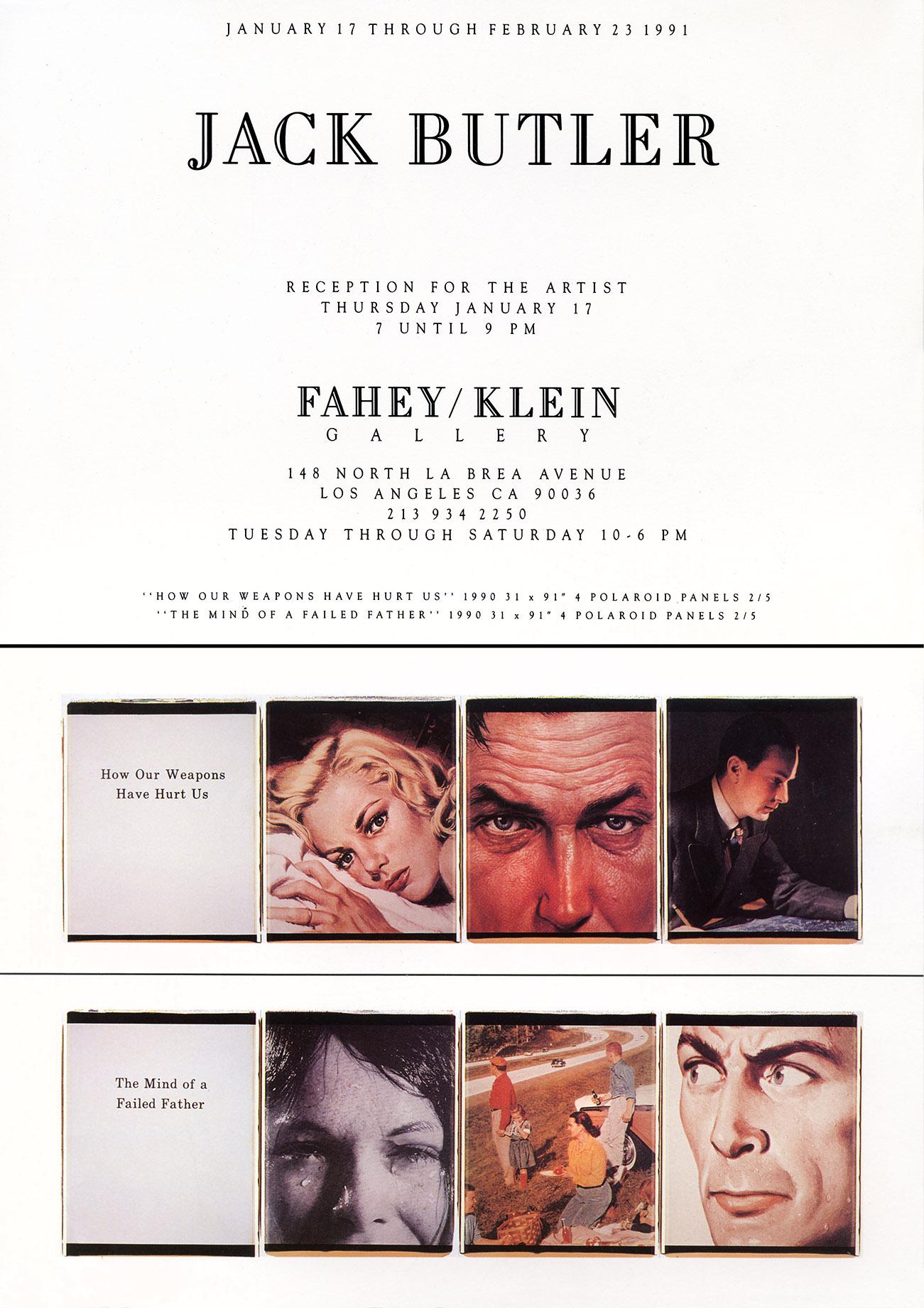 Fahey Klein Exhibition 1991