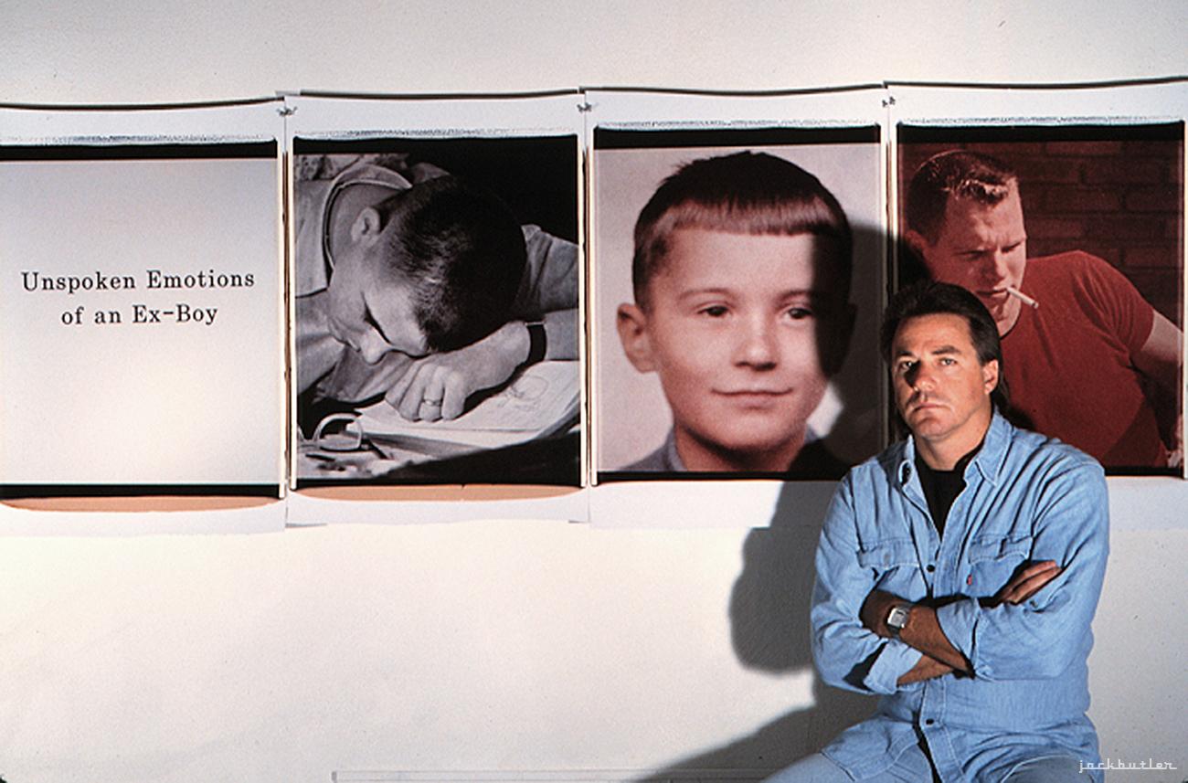 Jack Butler in his Studio 1990