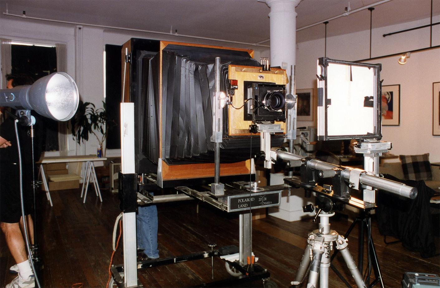 20x24 Polaroid Camera set up NY City, 1998