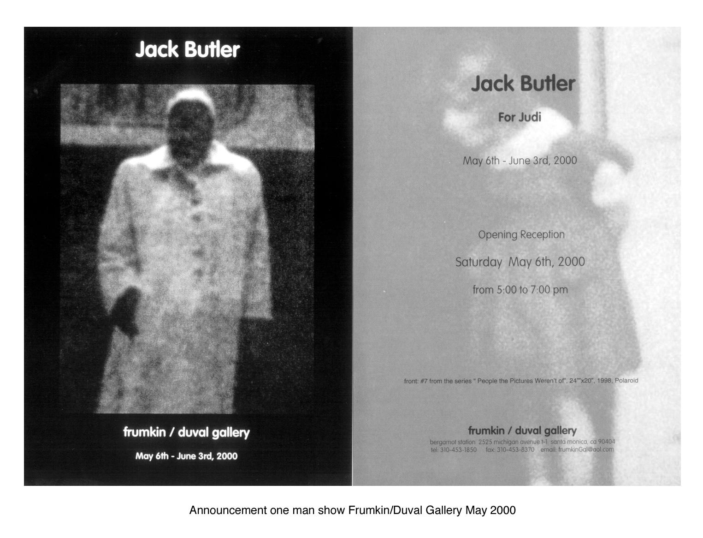 Solo Exhibition, Frumkin/Duval Gallery, May 2000