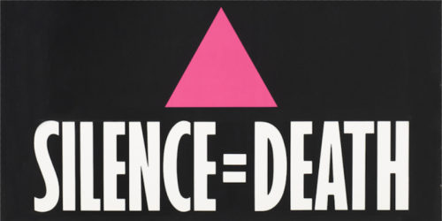 Silence=Death poster created by ACT UP April 1987. Source: ACT UP NYC