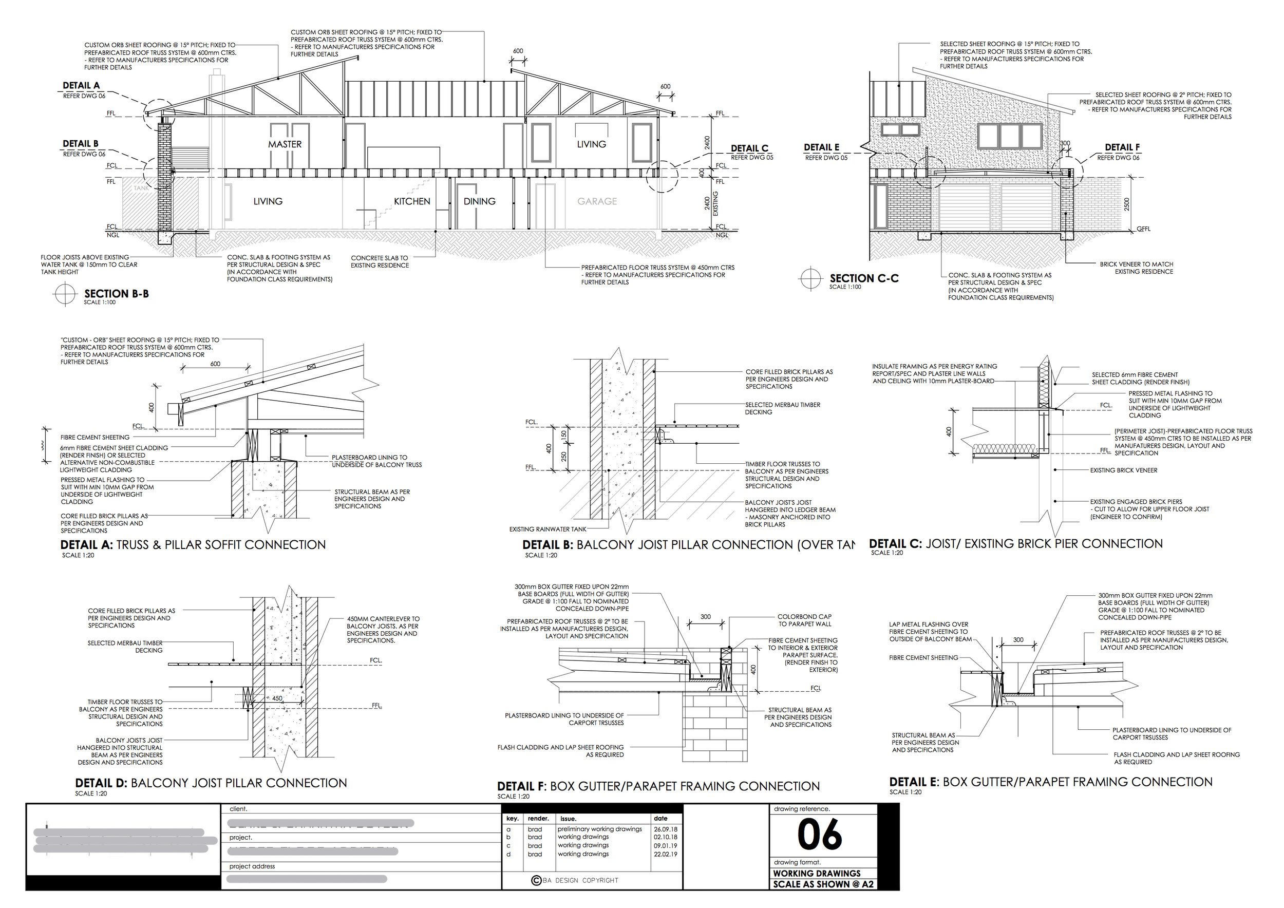 Construction Drawings Example - Showing Construction Specifications and Details.