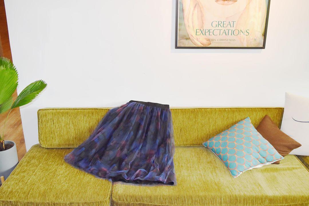 展示 | a la sha+a 水彩筆觸網紗長裙