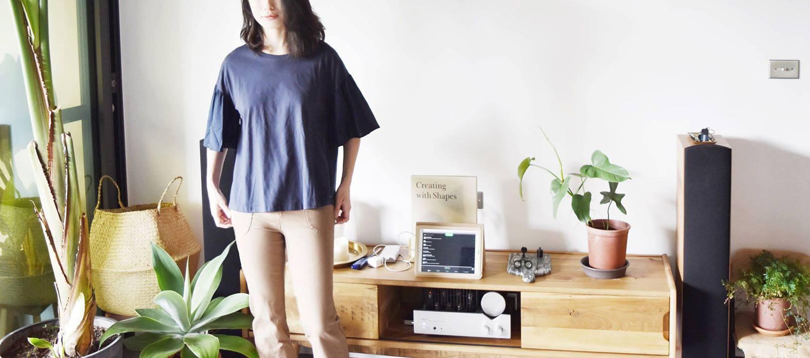 衣著 | a la sha+a 圓圈繡花創意上衣 & a la sha+a 束口合身九分褲