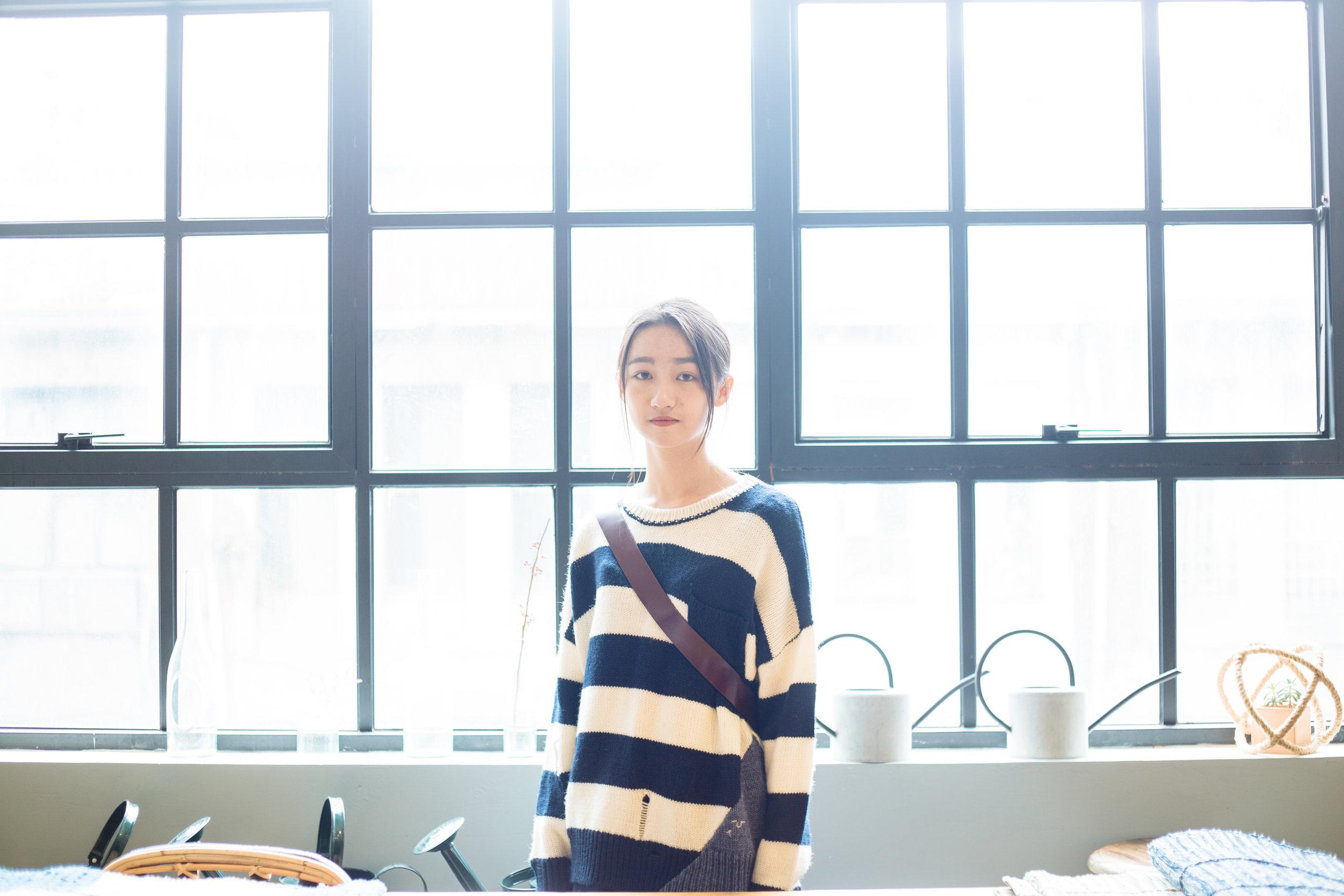 衣著 | a la sha+a 條紋拼接色塊針織上衣 & a la sha+a 微立體活褶純棉平織寬褲