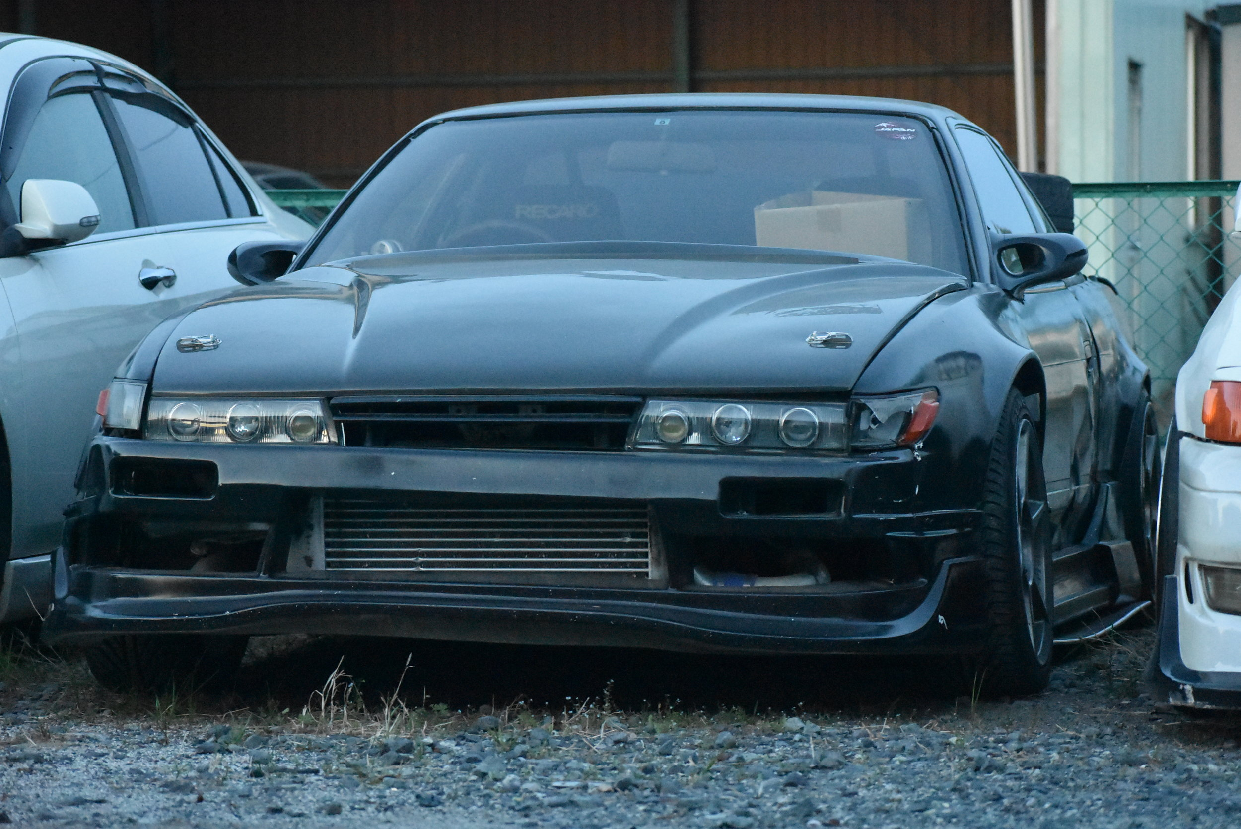 Last trip, I bumped a buddy while chasing him in the mountains and it pushed the whole front bumper/support over a bit, so the Silvia is a bit ugly at the moment, haha.