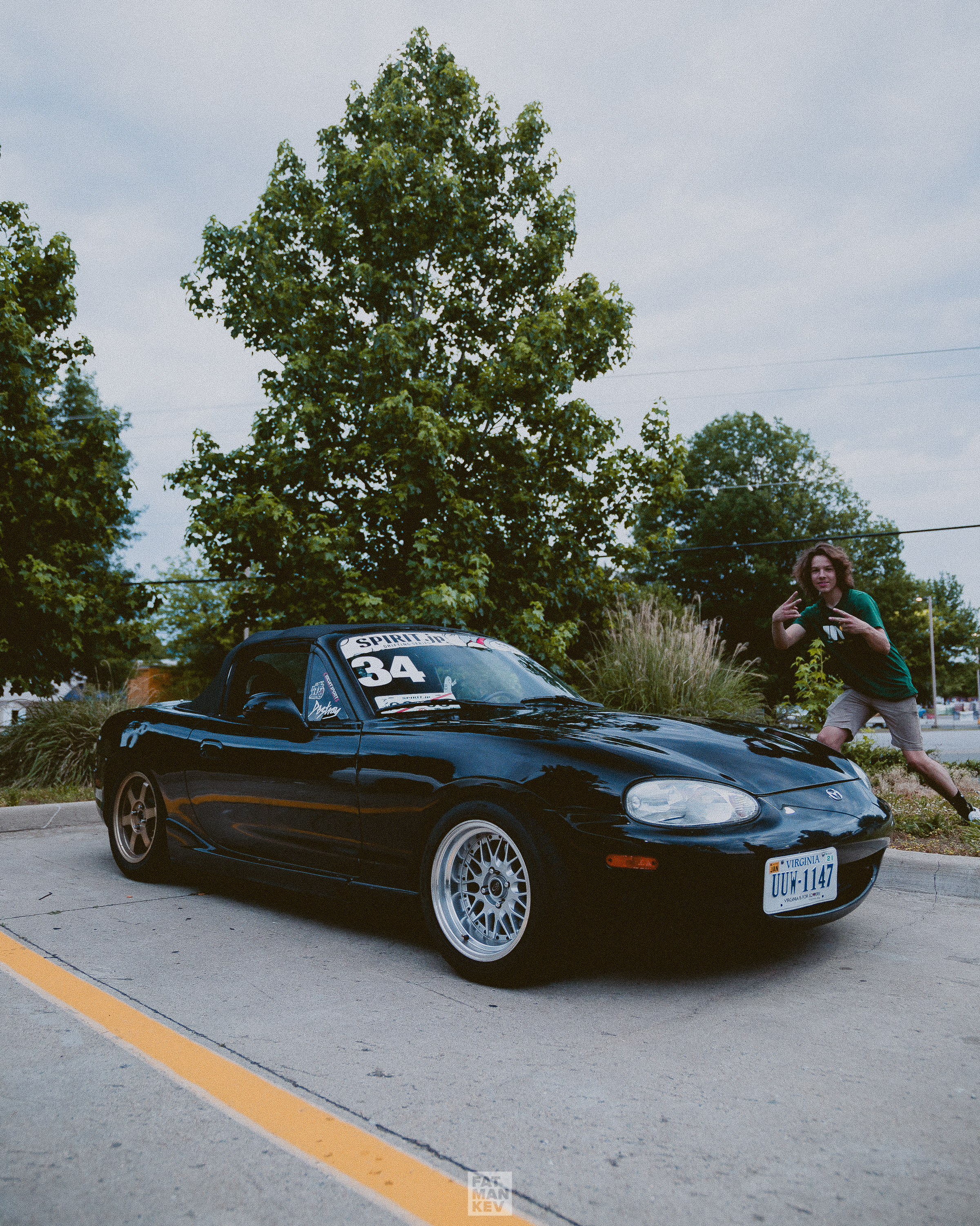 Jack drove all the way out from Newport News to come hang! Check out his new Vlog series on YouTube. He tells you how he got into drifting and what he's learned along the way that will help YOU get started!   Search Jack Rancorn on YouTube.   This is how you Miata, everyone. 100% stock and the only thing that gets replaced are the tires. Perfect reliable seat time car for practicing and dialing in your driving skill.