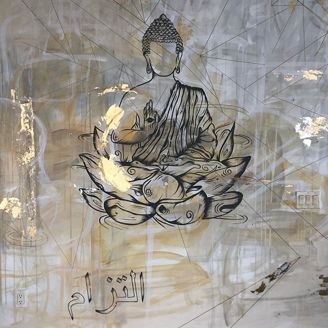 commissioned |  ความมุ่งมั่น #organicnative #mural #buddha