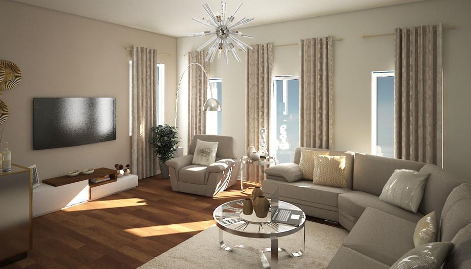 3D Renderings for the Living Room