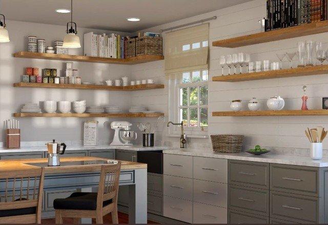 Using Floating Shelves In An Open Shelving Design Sheppard Floating Shelf Brackets 208 604 2503