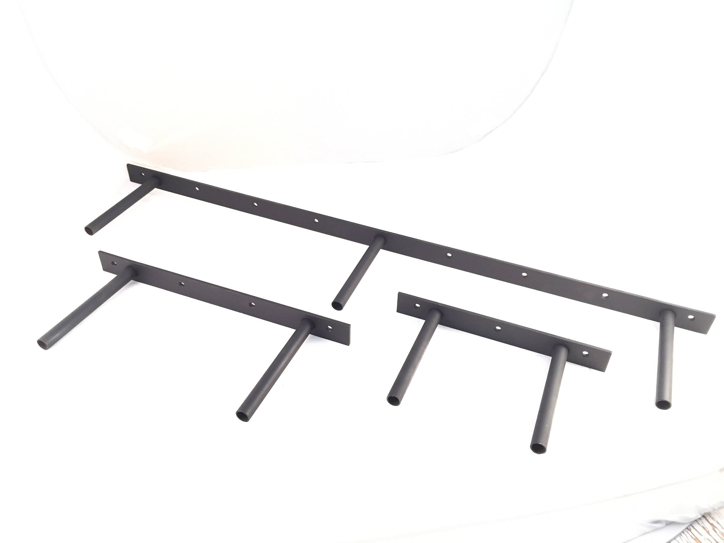 4 inch spaced floating shelf brackets