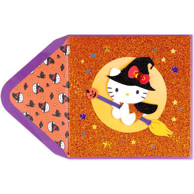 Hello Witch Kitty Halloween Card via PAPYRUS