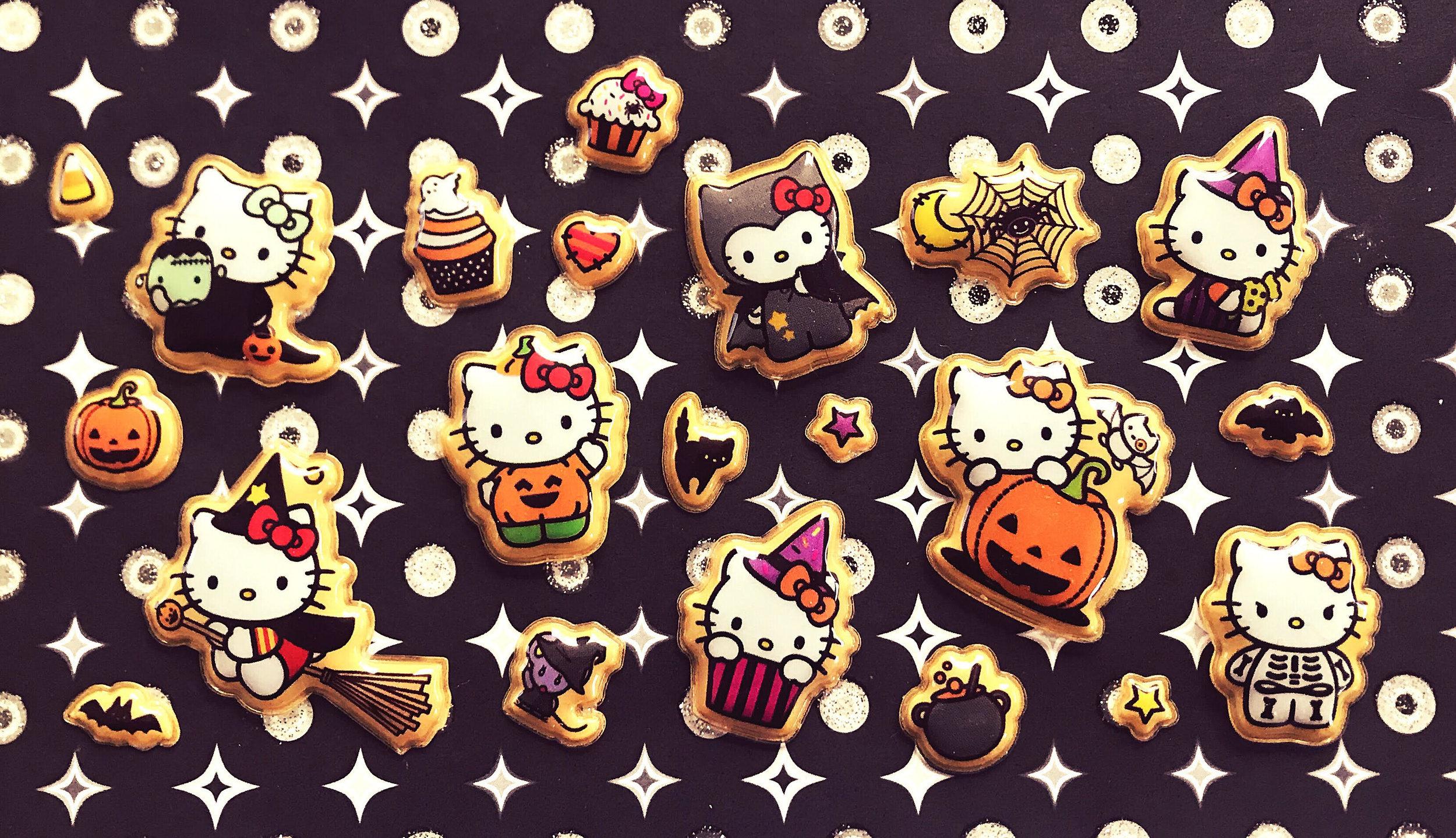 Hello Kitty Universal Studios Orange Halloween Candy Trick or Treat Bag