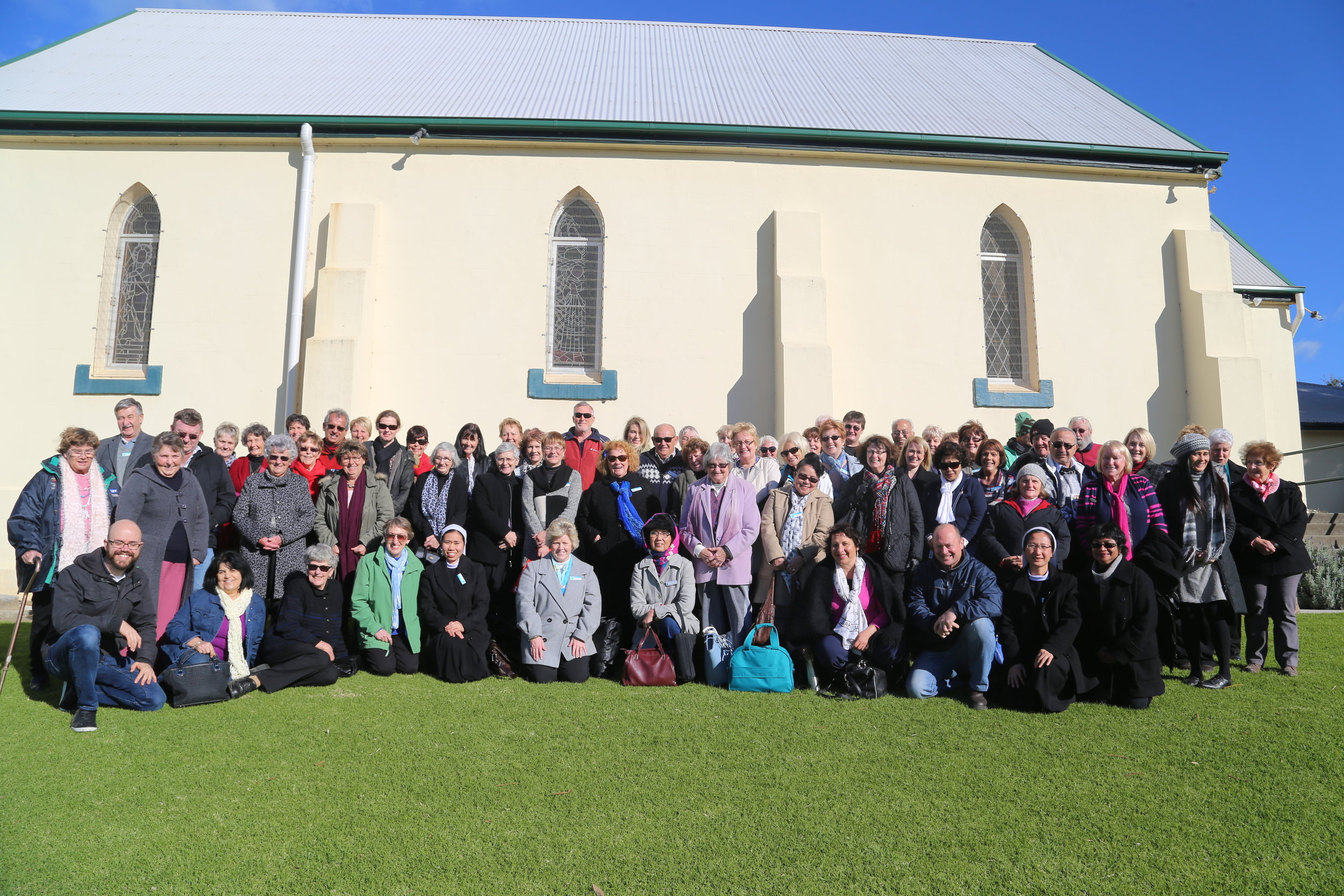 Catechists attending a retreat at St Mary Star of the Sea in Gerringong