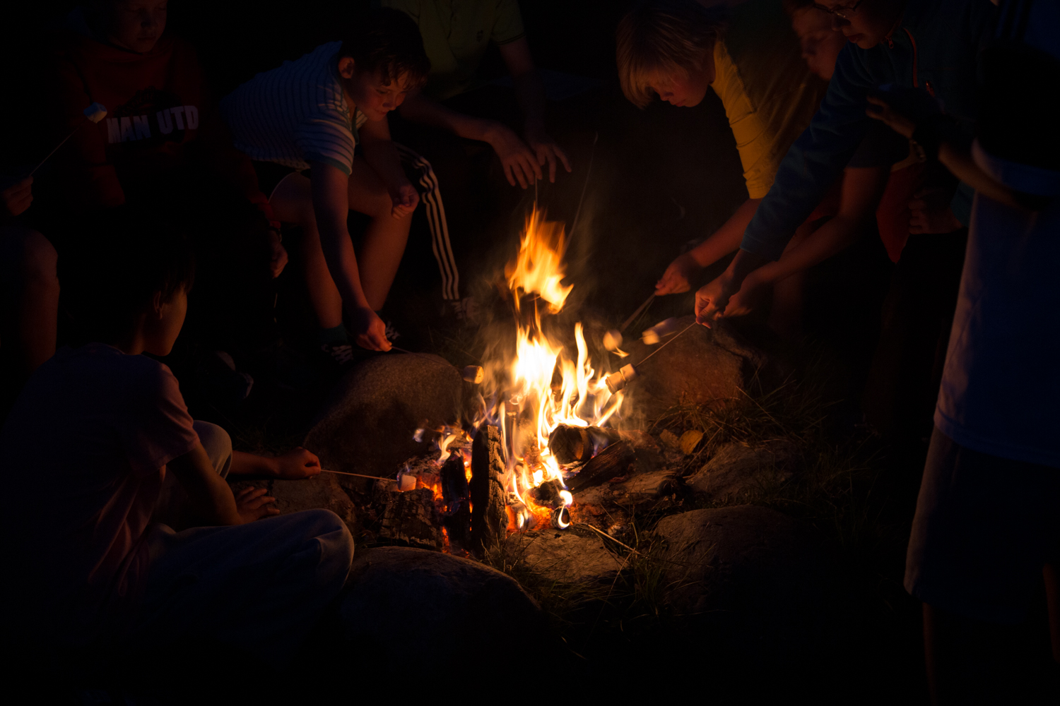 Every year during our summer camp, the boys try to establish a new record of how many marshmallows they can eat… 450.