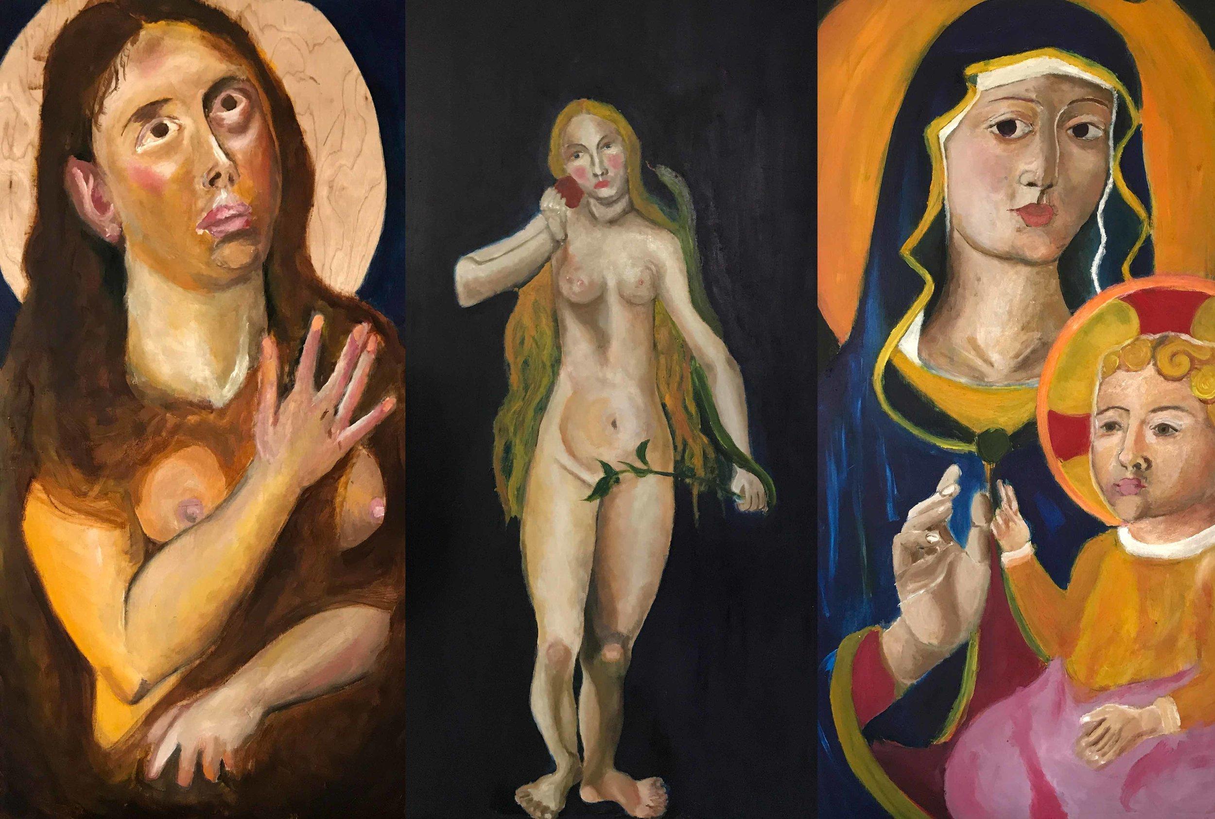 Triptych: Mary, Eve, & The Virgin