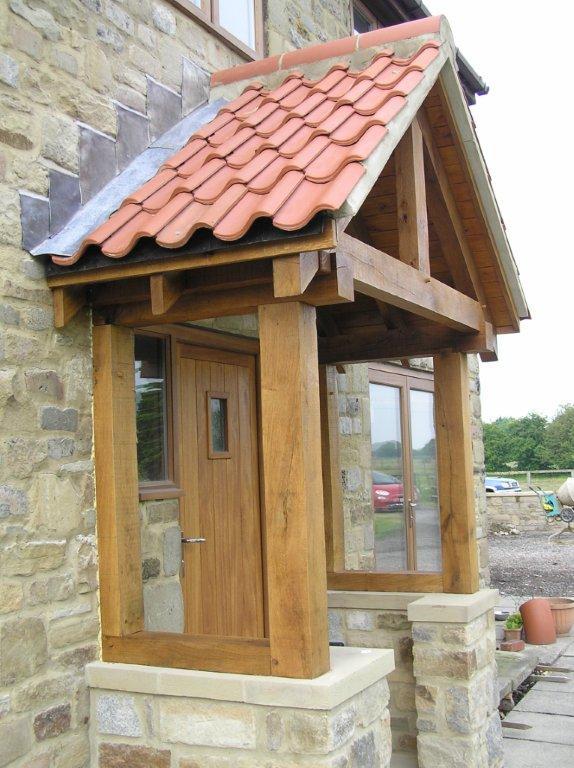 Oak porch, oak framed porch, wooden porch