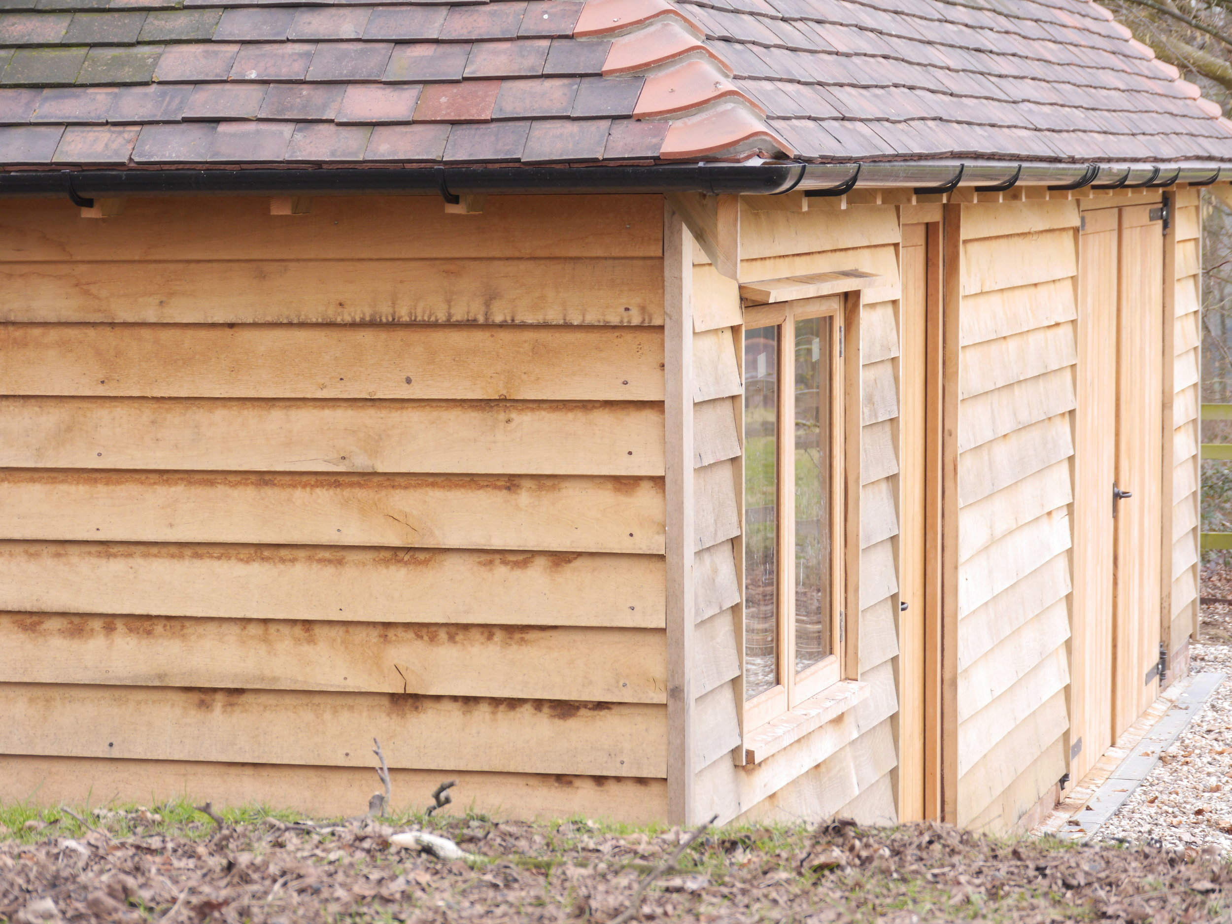 Oak frame garage, oak frame garden store