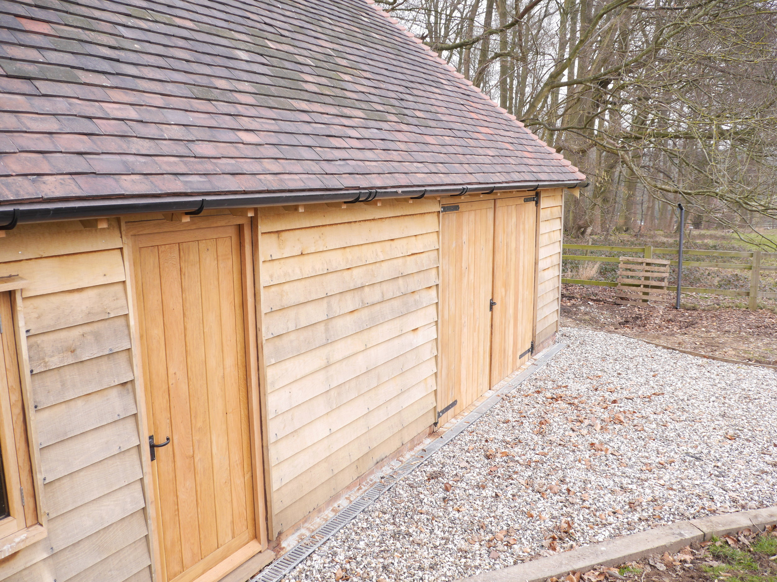 oak framed garage, oak framed garden store