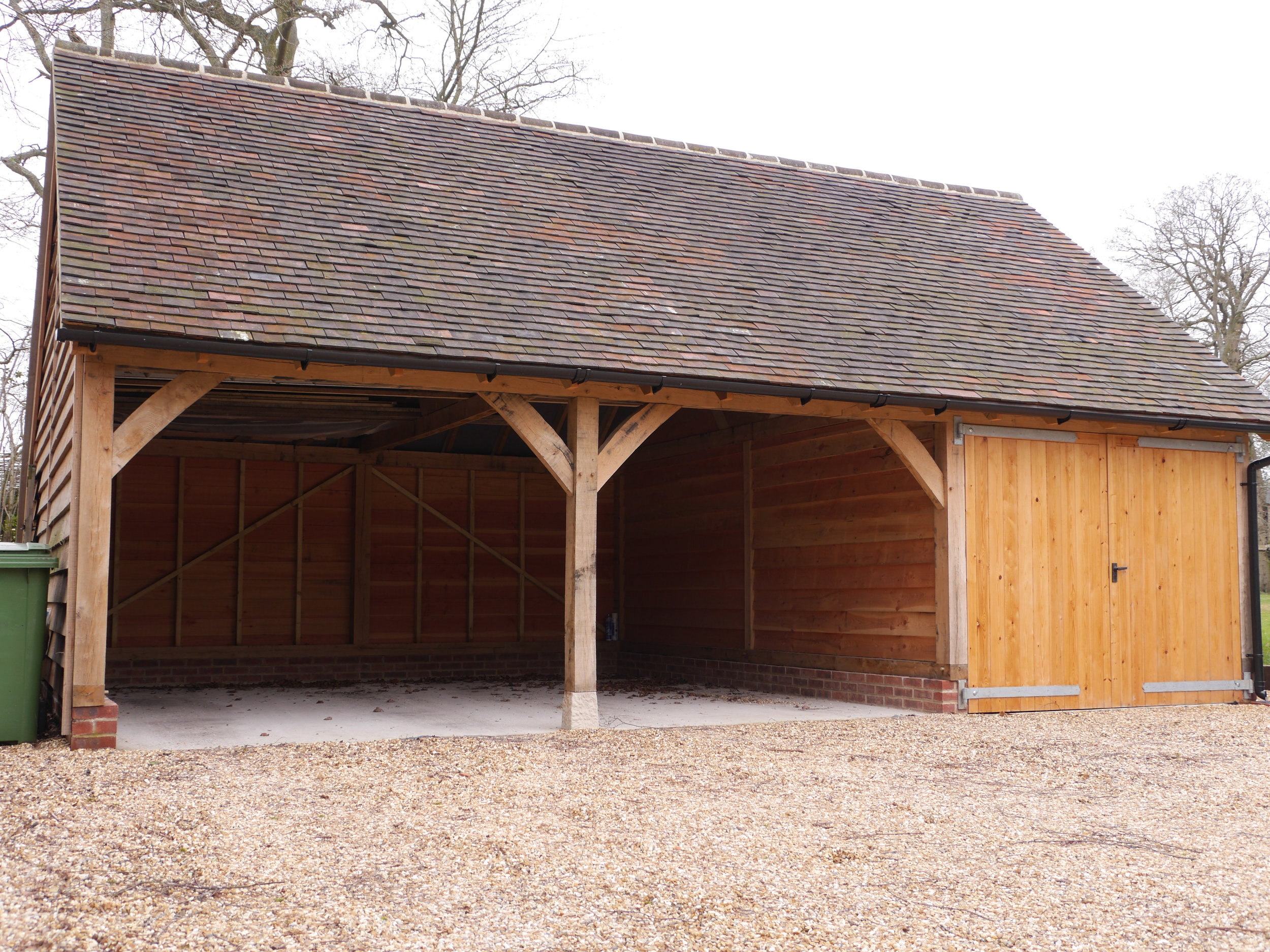 oak garage, oak outbuilding